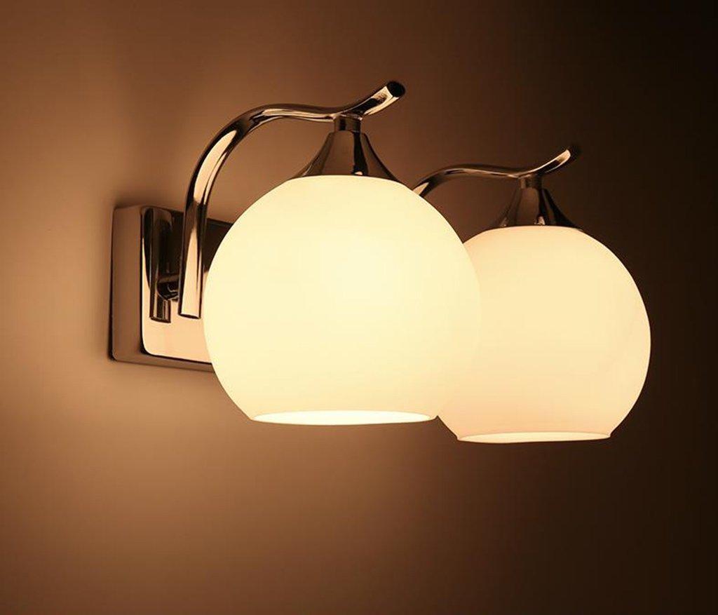 wandlampe Wandleuchte - Moderne minimalistische Schlafzimmer Wohnzimmer Hotel Bedside (Einzel- und Doppelkopf) Wandleuchte LED TV Wandleuchte Schlafzimmerleuchten (Farbe   Double head)