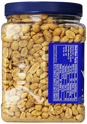029000073135 - Planters Dry Roasted Peanuts, Dry Roasted, Sea Salt, 34.5 Ounce (Pack of 6) carousel main 4