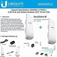 Ubiquiti NSM365 2-PACK NanoStation NSM365 3.65GHz AirMax Outdoor CPE 15+km PoE
