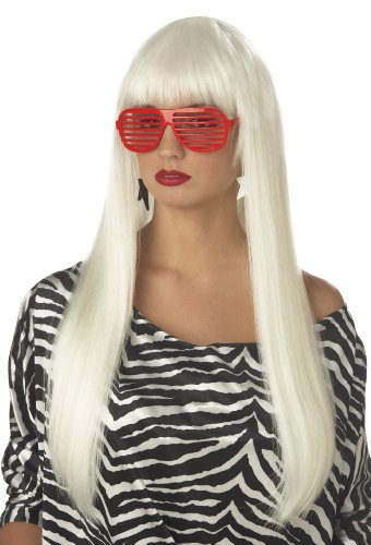 California Costumes Women's Pop Angel Wig,Platinum Blonde,One Size