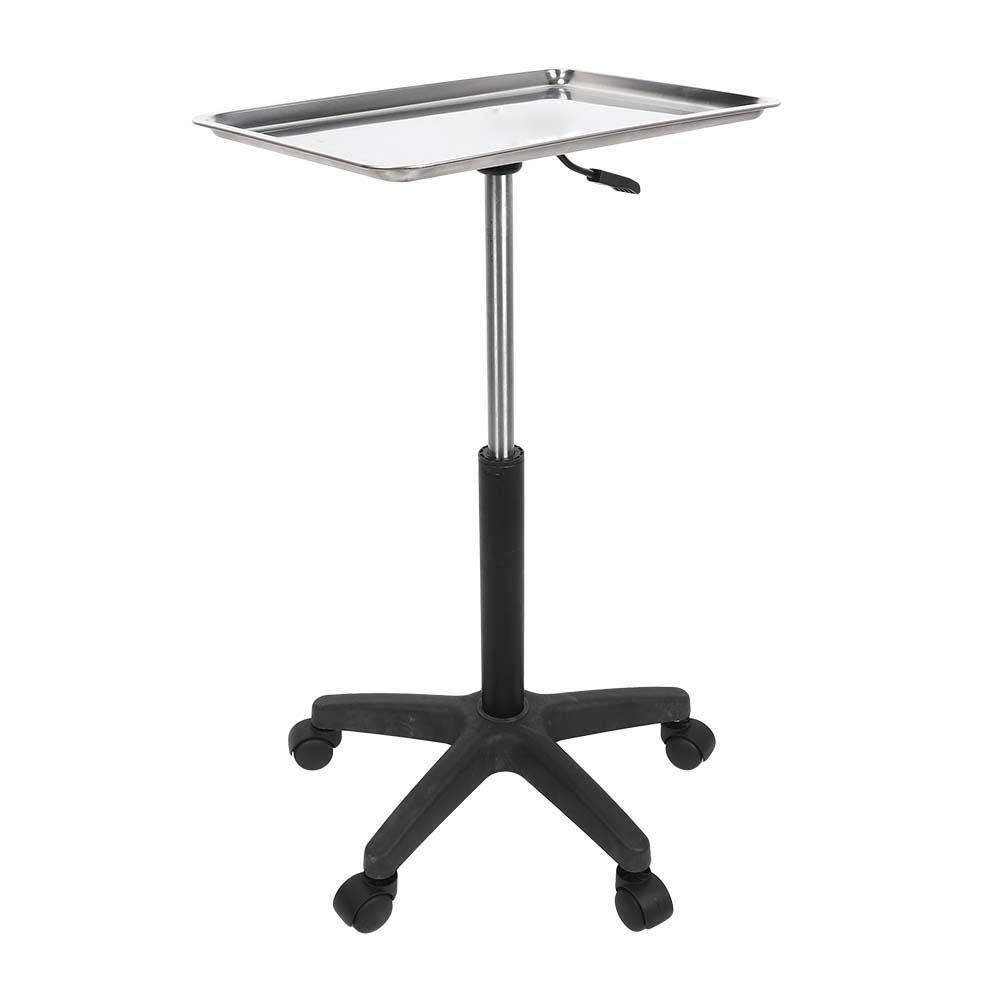 Salon Tray Beauty Rolling Trolley Cart Hair Spa Equipment Height Adjustable Stainless Steelwith Wheels Hairdressing Tattoo Storage(tray): Beauty