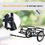 Aosom Foldable Bike Cargo Trailer Bicycle Cart