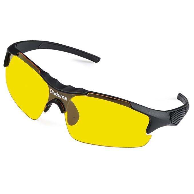 165fe7da4d Duduma Gafas de Sol Deportivas Polarizadas Lente Amarilla Visión Nocturna  Para Esquiar Golf Correr Ciclismo TR46