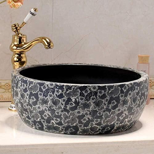 アートハンドペイントセラミック洗面シンクバスルームの洗面