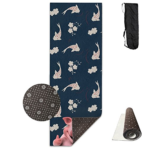 3D Fun Pig Yoga Mat Towel For Bikram/Hot Yoga, Yoga And Pilates, Paddle Board Yoga, Sports, Exercise, Fitness Towel by Ablank
