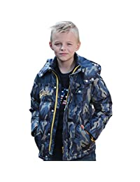 Leo&Lily Boys Padded Puffer Down Jackets Outwear Coats Camouflage Print