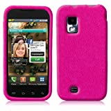 Hot Pink Texture Gel Skin Case for Samsung Fascinate (Galaxy S) Verizon Wireless