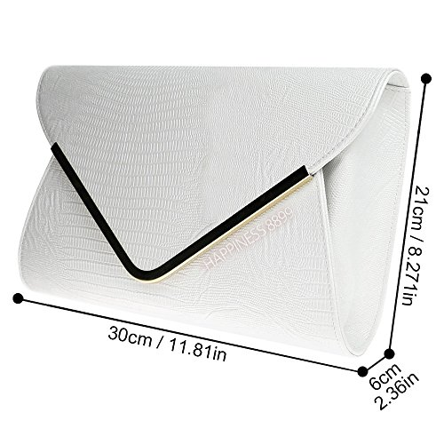 Print Ladies Clutch Flat Envelope Animal Wocharm White Evening Bag Girly Croc Handbags 0wBygqdA