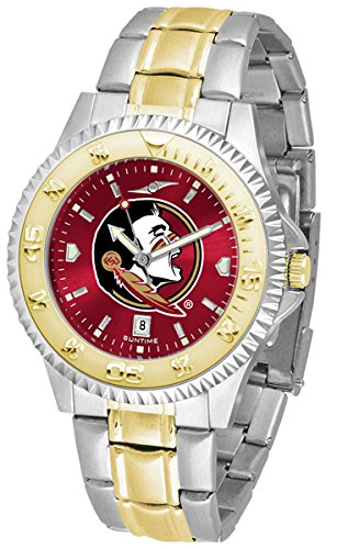 (Linkswalker Mens Florida State Seminoles Competitor Two Tone Anochrome Watch)
