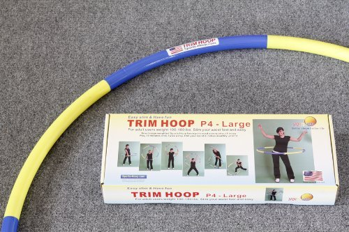 """Sports Hoop® - Trim Hoop® P4 - 3.9lb (Dia.41"""") Large, Weighted Hula Hoop for Workout"""