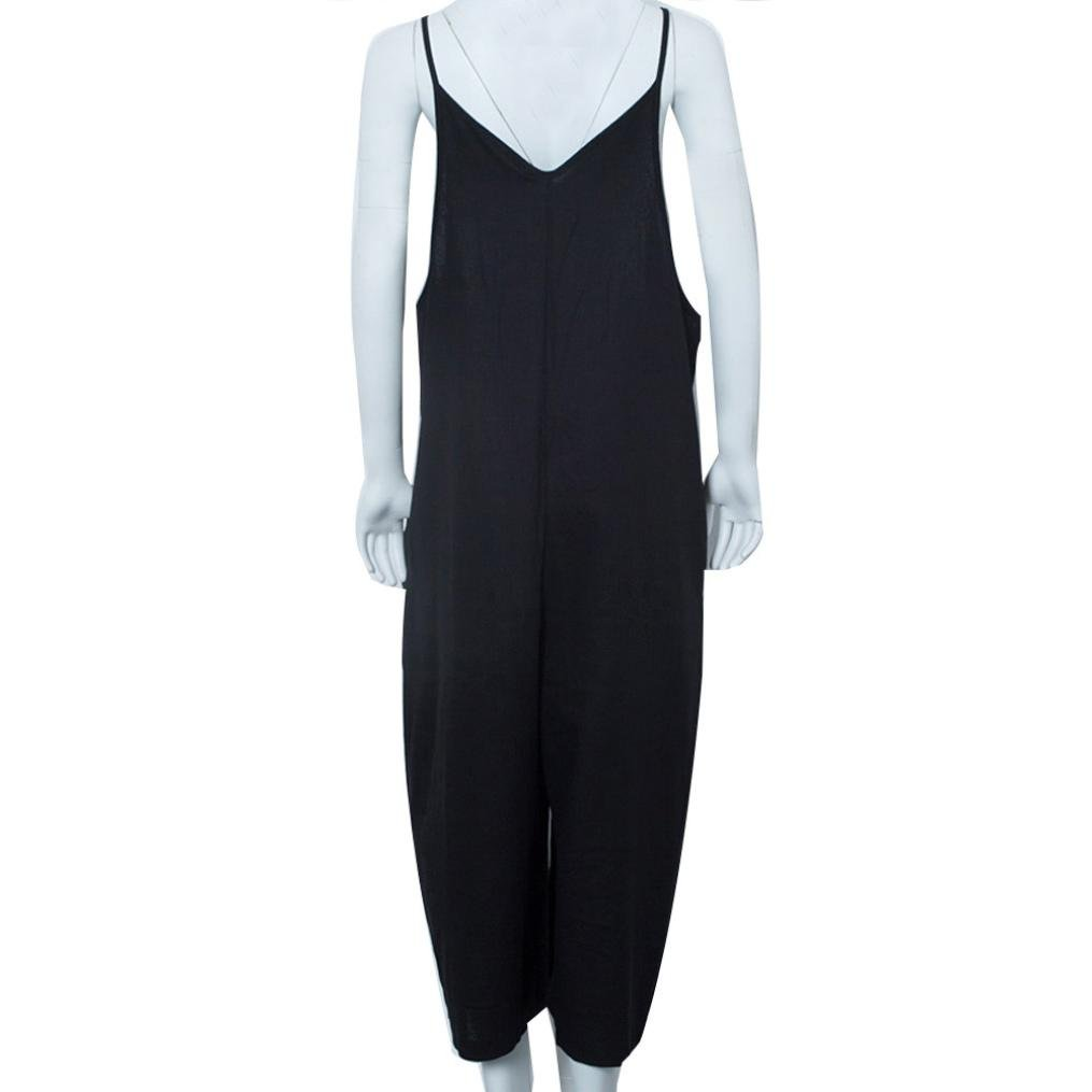 d885afb589f2 Amazon.com  SCSAlgin blouse Women Strap Wide Leg Pants Vocation Dungarees  Casual Jumpsuits Trousers Rompers  Clothing