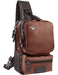 RS Mens Sling Backpack Crossbody Bag Large Capacity Casual Travel Man Chest Bag Satchel Bicycle DayPacks