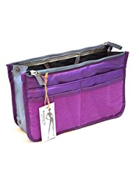 Brilliance Co Organisier Bag in Bag, Travel Storage Bag Purple