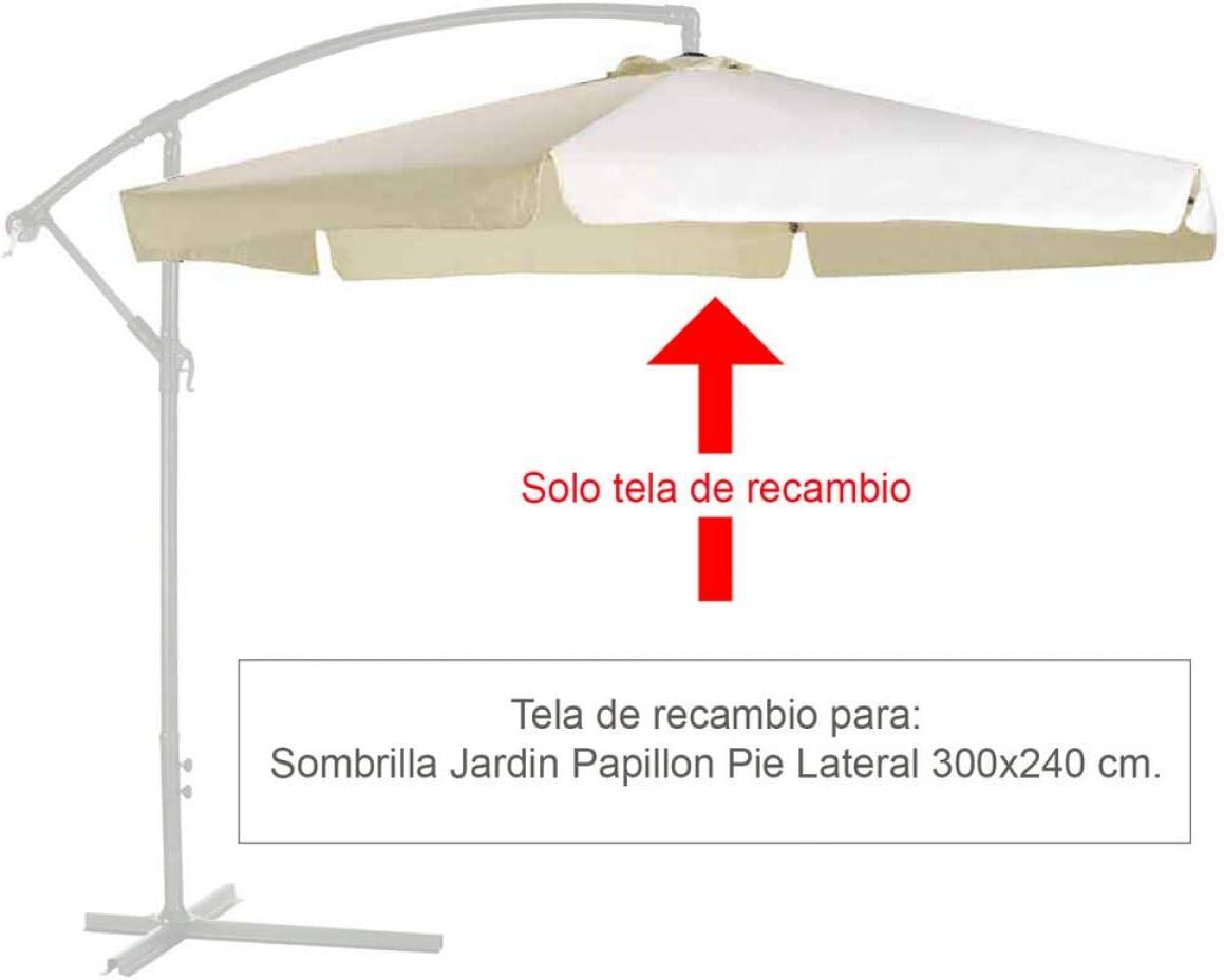 Papillon 8091153 Tela Recambio para Sombrilla Pie Lateral Ø 3 x 2, 40 Metros Color Beige: Amazon.es: Jardín