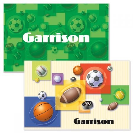 Personalized Kids Sports Placemat - 11