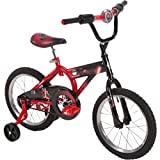 Star Wars Episode VII 16-inch Bike by Huffy, Ideal for Ages 4-6 & Rider Height 42-48 inches, First Bike Fun, Easy 5-Step Assembly, Flashing LED Lightsaber Handlebar, Kylo Ren Graphics, Style 21726