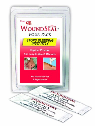 Pac-Kit by First Aid Only 90326 2 Piece WoundSeal Blood Clot Powder Pour Pack