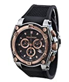CALABRIA – INCANTO – Rose Gold Two Tone Chronograph Men's Watch with Carbon Fiber Bezel, Watch Central