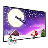1080 Projector Screen - 120 Inch PVC Outdoor Portable Projector Screen, WRLSUN 16:9 Home Theater Folding Movie Screen - for Office/Exhibition/Convention/Picnic