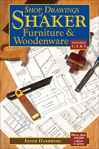 Shop Drawings of Shaker Furniture & Woodenware (Vols, 1, 2 & 3) (Vol. 1, 2 & 3) (2 Price 1 Furniture)