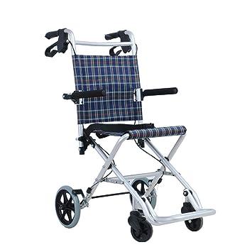 UUOO Viejo Hombre Trolley, Plegable Compras supermercado Carrito portátil Ultralight Viaje Silla aleación de Aluminio Viejo Hombre Walker: Amazon.es: ...