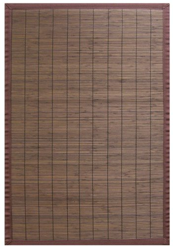 Villager Bamboo Rug - Anji Mountain 5-Foot-by-8-Foot Natural Fiber Rug, Villager Coffee