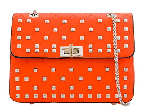 Cross Studded Women's Chain Bag Body LeahWard 892 Orange RcFWnBR