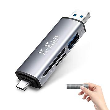 X-Kim lector de tarjetas SD USB C, lector de tarjetas de memoria ...