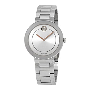 9d94b9afb10 Image Unavailable. Image not available for. Color  Movado Bold Silver Dial  Ladies Watch 3600497