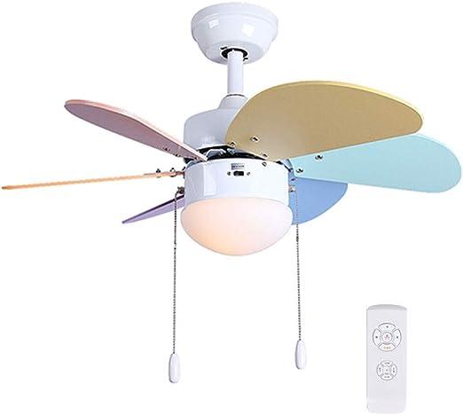 Ventilador Techo con Luz Lampara Y Mando A Distancia/Iluminación ...