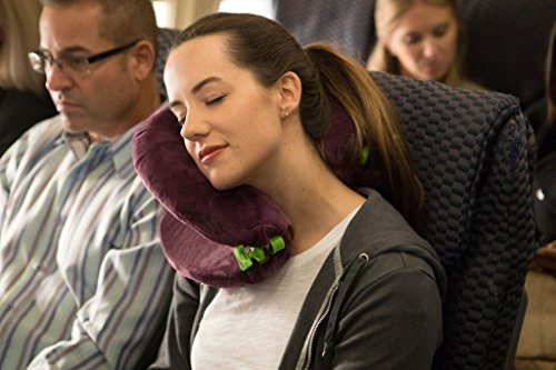 FaceCradle Adjustable Travel Pillow, Full Sleep while you Travel on an Airplane, Train or Bus, Support your Neck While you Travel and Sleep, Neck Pillow Comfortably Holds your Head Up, Grey