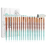 Tenmon 20Pcs Unicorn Makeup Brush Set Professional Face Eye Shadow Eyeliner Foundation Blush