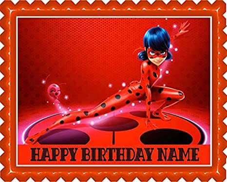 Amazon.com: Miraculous Ladybug - Decoración comestible para ...