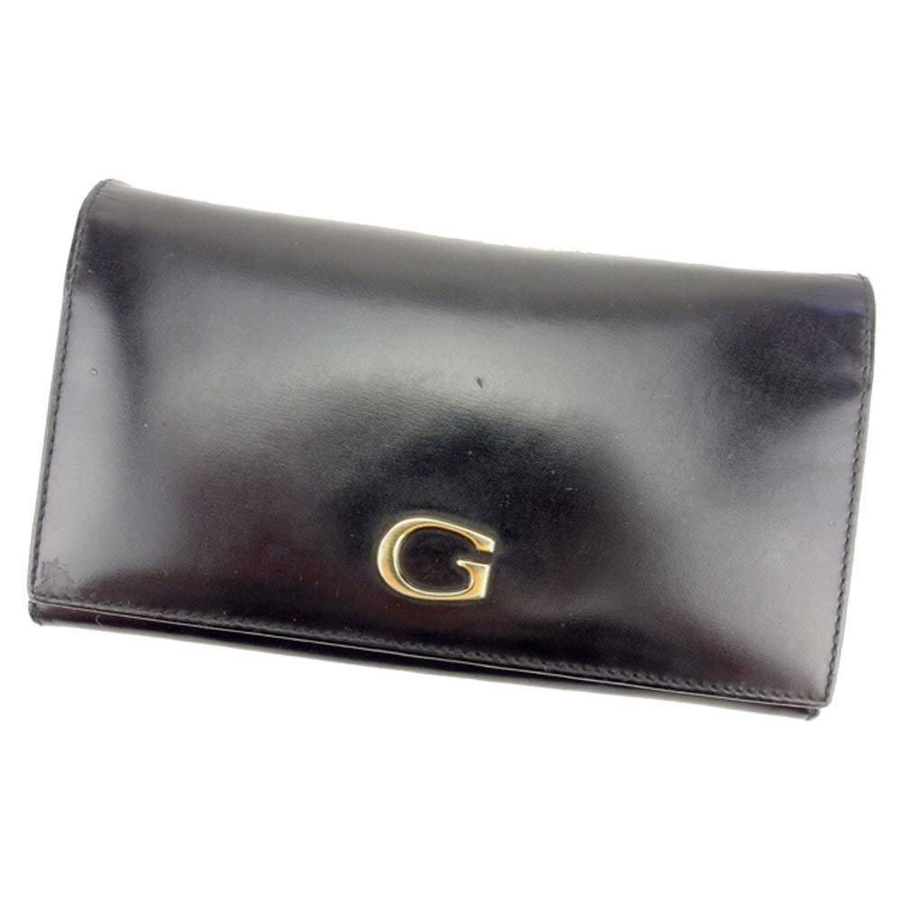 (グッチ) Gucci 長財布 がま口 ファスナー付き 財布 ブラック ゴールド Gマーク レディース メンズ 中古 T8046   B07HMW8DTK