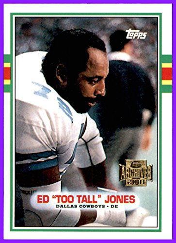 2001 Topps Archives #151 Ed Too Tall Jones 1989 DALLAS COWBOYS TENNESSEE STATE ()