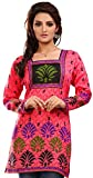 Maple Clothing India Cotton Tunic Top Kurti Womens Printed Blouse Indian Apparel (Pink, S)