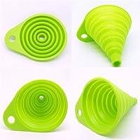 Romote UDTEE 2 piezas de hermoso y portátil/mini cocina de silicona plegable/plegable/Embudo plegable, Rojo