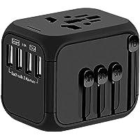 Ejeas Universal Worldwide International Travel Charger Adapter (Black)