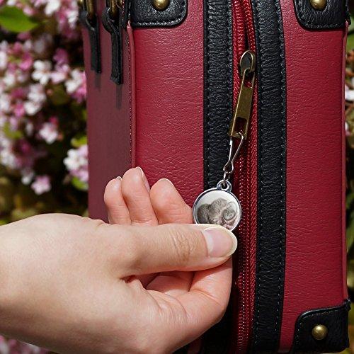 Siberian Cat Kitten Mirror Fairest Of Them All Jacket Handbag Purse Luggage Backpack Zipper Pull Charm