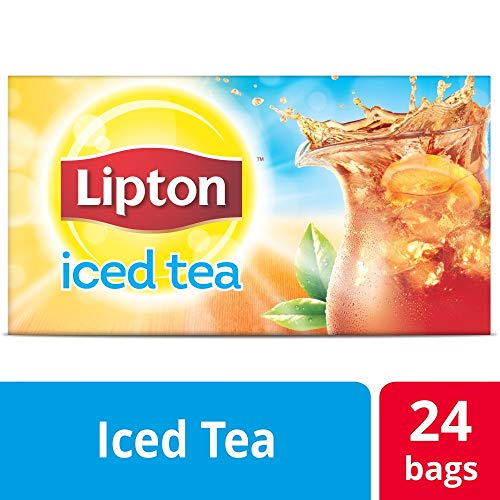 - Lipton Black Unsweetened Iced Tea Bags Made with Tea Leaves Sourced from Rainforest Alliance Certified Farms, 1 gallon, 4x Pack of 24