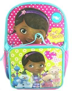 "Disney Junior Doc McStuffins 16"" Girls Backpack Bag Lunchbox Lunch Tote 2pc NEW"