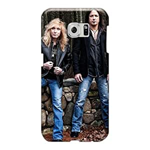 Samsung Galaxy S6 Znn559rDrh Custom HD Stryper Band Pictures Shock Absorption Hard Phone Case -LauraAdamicska