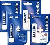 Labello 2x Classic Care, 2x Med Protection Lip Balm Bundle