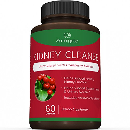 Best Kidney Cleanse Supplement – Premium Kidney Support Formula With Cranberry Extract Helps Support Healthy Kidneys, Detox, Bladder Health & Urinary Tract– 60 Vegetarian Capsules
