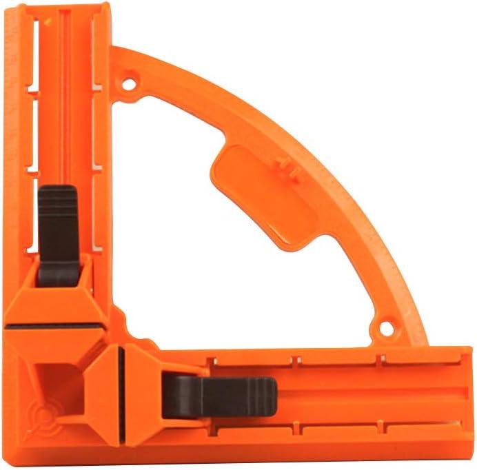 Pinza portafotos de ángulo recto 90 grados herramientas de carpintería madera de aluminio fijo esquina de plástico herramientas regla: Amazon.es: Bricolaje y herramientas