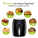 Habor Digital Air Fryer with LCD Touchscreen, Programmable 7-in-1 Air Fryer Oven, 3.7QT Mini Deep Air Fryer Cooker for Oilless Healthy Life, Detachable Dishwasher Safe Basket(Recipes Included)