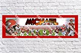 Personalized Kansas City Chiefs Banner - Includes Color Border Mat, With Your Name On It, Party Door Poster, Room Art Decoration - Customize