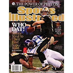 Brees, Drew 2/1/10 autographed magazine