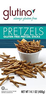 Glutino Gluten Free Pretzel Sticks Family Size -- 14.1 oz