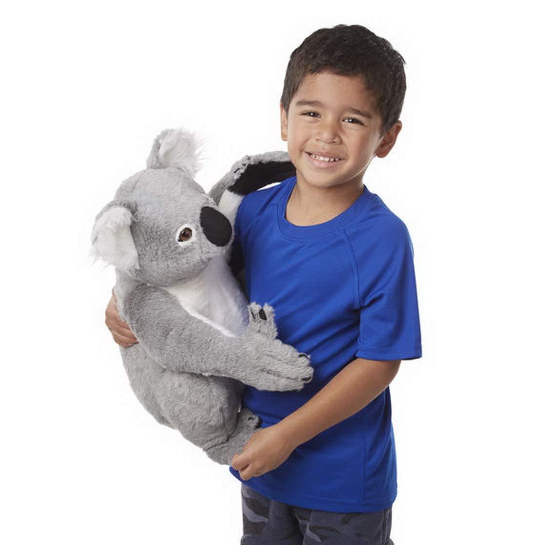 Salut Maman - Vida auténtica Koala Oso niños Gigante Jumbo plástico de Peluche, 39,5 x 33 x 33 cm, Color Gris: Amazon.es: Juguetes y juegos